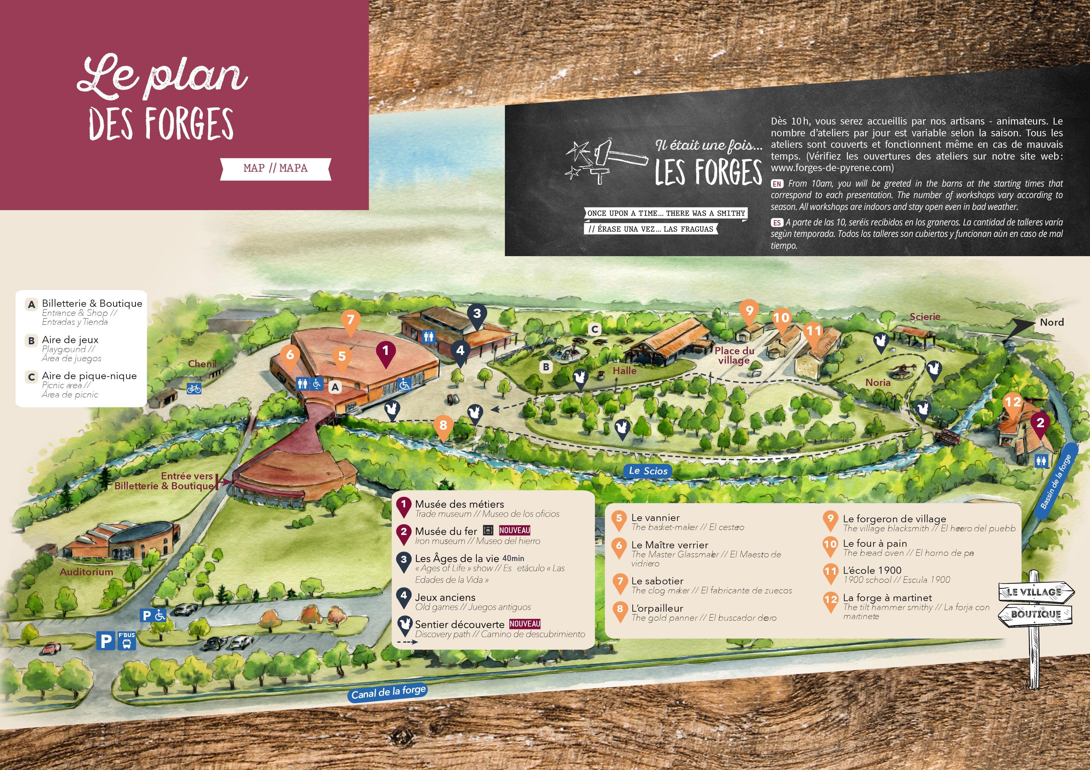 Plan des Forges de Pyrène, Parc de loisirs d'antan Ariège