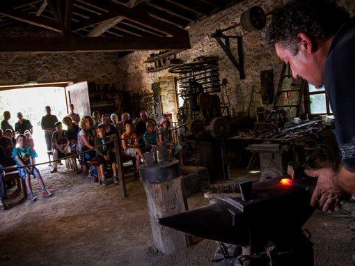 Atelier démonstration forge à martinet