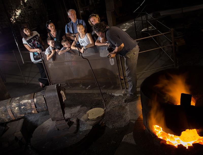 Atelier forge à martinet